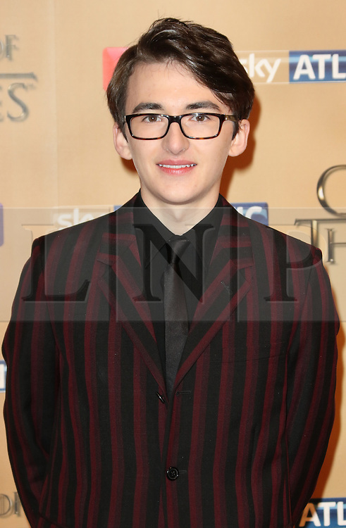 © Licensed to London News Pictures. 18/03/2015, UK. Ian Isaac Hempstead-Wright (Bran Stark), Game of Thrones - Series Five World Premiere, Tower of London, London UK, 18 March 2015. Photo credit : Richard Goldschmidt/Piqtured/LNP