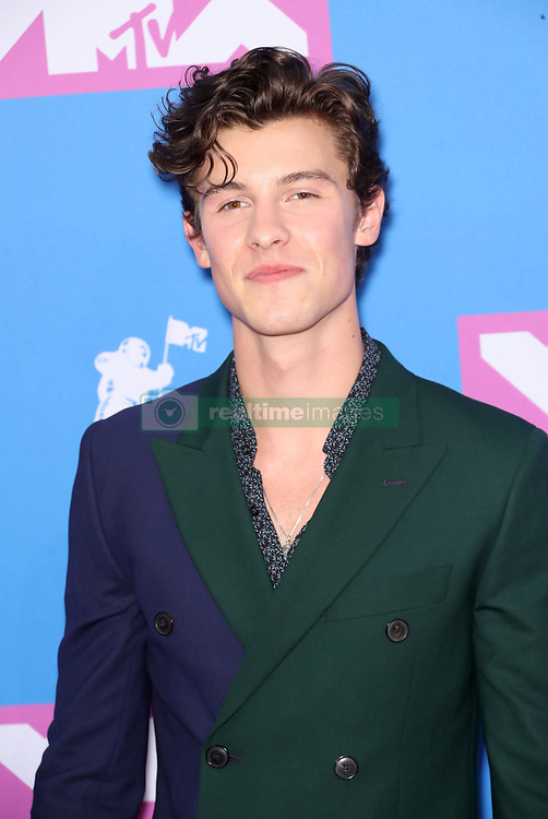 August 21, 2018 - New York City, New York, USA - 8/20/18.Shawn Mendes at the 2018 MTV Video Music Awards held at Radio City Music Hall in New York City..(NYC) (Credit Image: © Starmax/Newscom via ZUMA Press)