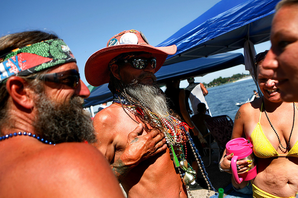 """Marty Gregory of Benton City, left, hangs out with his father Cecil """"Spur"""" Gregory, friend Danielle Emerick of Kennewick, and sister Mel Gregory of Finley."""