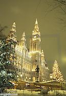 City hall Vienna, Christmas decoration, Austria, Vienna, 1. district, city hall