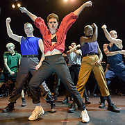 WASHINGTON, DC - November 4th, 2018 - Heloise Letissier of Christine and the Queens (center) performs on stage at the 9:30 Club. She released her sophomore album, Chris, last September and it became a Top 5 album across Europe. (Photo by Kyle Gustafson / For The Washington Post)