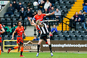 Wycombe Wanderers defender Adam El-Abd (6) beats Notts County forward Jonathan Stead (30) in the air during the EFL Sky Bet League 2 match between Notts County and Wycombe Wanderers at Meadow Lane, Nottingham, England on 30 March 2018. Picture by Simon Davies.