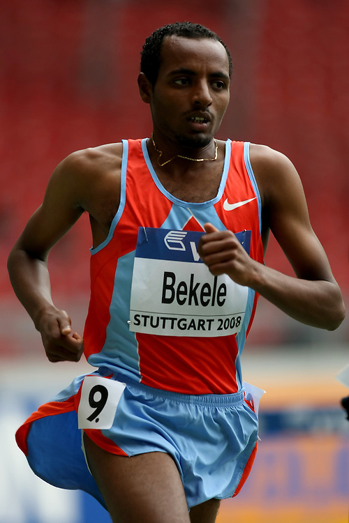 (Stuttgart, Germany---14 September 2008) Tariku Bekele of Ethiopia on his way to sixth place in the 5000m at the 2008 World Athletics Final. [Copyright Sean W. Burges/Mundo Sport Images, 2008.]