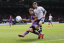 Danny Mayor of Bury battles for the ball - Mandatory by-line: JMP - 04/05/2019 - FOOTBALL - Gigg Lane - Bury, England - Bury v Port Vale - Sky Bet League Two