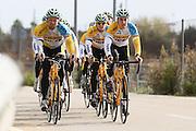 SPAIN / SPANJE / MALLORCA / CYCLING / WIELRENNEN / CYCLISME / CYCLOCROSS / VELDRIJDEN / TELENET FIDEA CYCLING TEAM / WINTERSTAGE / TRAINING CAMP / (L-R) THIJS AL / CORNE VAN KESSEL / BEN BOETS /