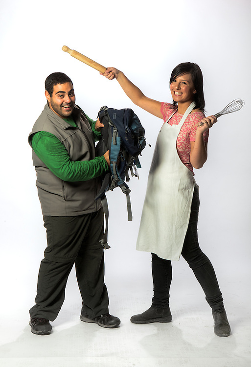 TV Contestants, Mohammed 'Mo' Elleissy, amazing race contestant &amp; Dani Venn - masterchef contestant. Pic By Craig Sillitoe CSZ/The Sunday Age.21/03/2012 melbourne photographers, commercial photographers, industrial photographers, corporate photographer, architectural photographers, This photograph can be used for non commercial uses with attribution. Credit: Craig Sillitoe Photography / http://www.csillitoe.com<br />