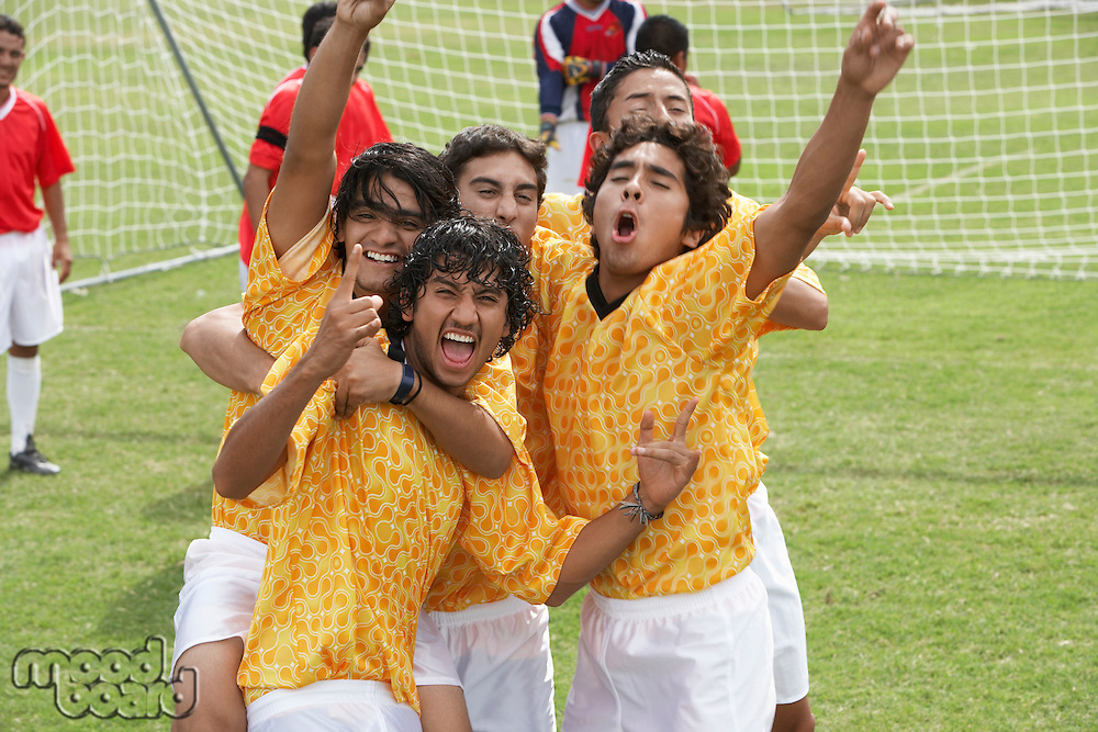 Soccer Team Celebrating a Win