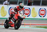 Foto Alessandro La Rocca/LaPresse<br /> 01-05-2016,    05 WorldSBK Motul Italian Round Imola, Autodromo Enzo e Dino Ferrari- 2016<br /> Sport-Motociclismo-WSBK <br />   05 WorldSBK Motul Italian Round Imola, Autodromo Enzo e Dino Ferrari- 2016<br /> nella foto:Chaz Davies - Ducati Panigale R- 1&deg; cl.Gara 2<br /> <br /> Photo Alessandro La Rocca/ LaPresse<br /> 2016 01 May,    05 WorldSBK Motul Italian Round Imola, Autodromo Enzo e Dino Ferrari- 2016<br /> Sport- WSBK<br />    05 WorldSBK Motul Italian Round Imola, Autodromo Enzo e Dino Ferrari- 2016<br /> in the photo:Chaz Davies - Ducati Panigale R- 1&deg; cl.Race 2