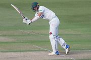 Chris Wright clips off his legs for 4 during the Specsavers County Champ Div 2 match between Gloucestershire County Cricket Club and Leicestershire County Cricket Club at the Cheltenham College Ground, Cheltenham, United Kingdom on 15 July 2019.