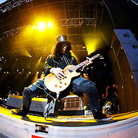 KRISTIANSAND 20090630: Gitaristen Slash p&aring; scenen under f&oslash;rste dag av &aring;rets Quartfestival tirsdag kveld.<br /> Foto: Tor Erik Schr&oslash;der / SCANPIX .