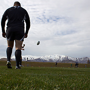 The Irish team training at The Queenstown Events Centre in preparation for the IRB Rugby World Cup. The team are based in Queenstown for the early part of the tournament.  Queenstown, New Zealand, 4th September 2011. Photo Tim Clayton...