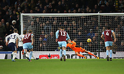 Harry Kane of Tottenham Hotspur (2nd L) scores his sides first goal from the penalty spot - Mandatory by-line: Jack Phillips/JMP - 23/12/2017 - FOOTBALL - Turf Moor - Burnley, England - Burnley v Tottenham Hotspur - English Premier League