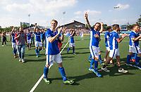 UTRECHT -  Jip Janssen (Kampong) , Quirijn Caspers (Kampong)    na  de finale van de play-offs om de landtitel tussen de heren van Kampong en Amsterdam (3-1).   COPYRIGHT KOEN SUYK