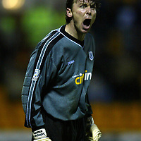 St Johnstone v Motherwell....10.01.04 Scottish Cup 3rd Round<br />Craig Nelson<br /><br />Picture by Graeme Hart.<br />Copyright Perthshire Picture Agency<br />Tel: 01738 623350  Mobile: 07990 594431