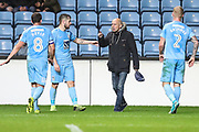 Frustrated Coventry City fan comes onto the pitch during the EFL Sky Bet League 2 match between Coventry City and Forest Green Rovers at the Ricoh Arena, Coventry, England on 17 October 2017. Photo by Shane Healey.