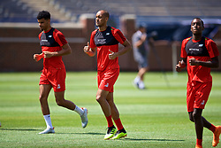 ANN ARBOR, USA - Friday, July 27, 2018: Liverpool's Fabio Henrique Tavares 'Fabinho' during a training session ahead of the preseason International Champions Cup match between Manchester United FC and Liverpool FC at the Michigan Stadium. (Pic by David Rawcliffe/Propaganda)