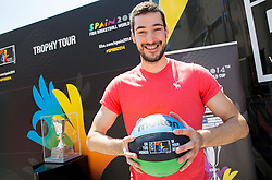 Luka Babic at FIBA Basketball World Cup Spain 2014 Trophy Tour, on June 22, 2014 in Ban Jelacic Square, Zagreb, Croatia. Photo By Vid Ponikvar / Sportida