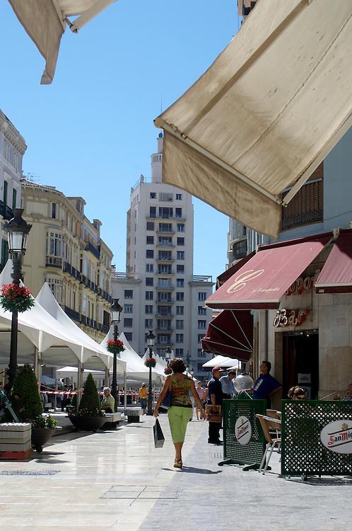 Calle Larios, Malaga on the Costa del Sol, Spain
