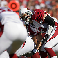 04 November 2007: Arizona Cardinals quaterback #13 Kurt Warner at the line during the Tampa Bay Buccaneers 17-10 victory over the Arizona Cardinals at Raymond James Stadium in Tampa, Florida, USA.