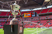 The play off final trophy during the Vanarama National League Play Off Final match between Tranmere Rovers and Forest Green Rovers at Wembley Stadium, London, England on 14 May 2017. Photo by Shane Healey.