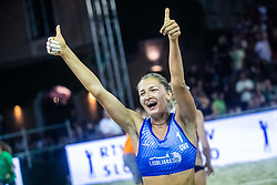 Inna Makhno of Ukraine at Beach Volleyball Challenge Ljubljana 2019, on August 4, 2019 in Kongresni trg, Ljubljana, Slovenia. Photo by Grega Valancic / Sportida