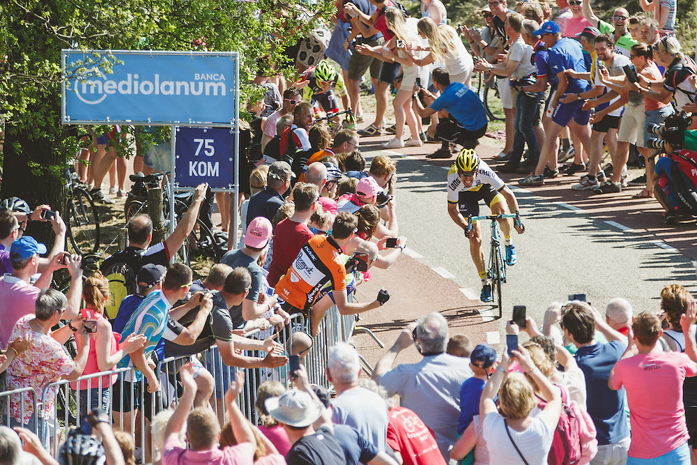 Maarten Tjallingii of Lotto NL - Jumbo took maximum points over the Posbank climb to secure the maglia azzurra on race's final day in the Netherlands. Photo: Jim Fryer / BrakeThrough Media | brakethroughmedia.com