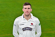 Head shot.  Craig Overton wearing the Somerset Specsavers County Championship kit at the media day at Somerset County Cricket Club at the Cooper Associates County Ground, Taunton, United Kingdom on 11 April 2018. Picture by Graham Hunt.