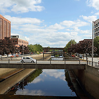 The Kenduskeag Stream flows through downtown Bangor, Maine, USA and empties into the Penobscot River on the Bangor waterfront. Bangor is the 3rd largest city in the state and the retail, cultural and service center for central, eastern and northern Maine, as well as Atlantic Canada.