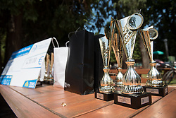 Trophies for the winners of Drzavno prvenstvo v tenisu za clane in clanice, on June 27th, 2019 in Maribor, Slovenia. Photo by Milos Vujinovic / Sportida
