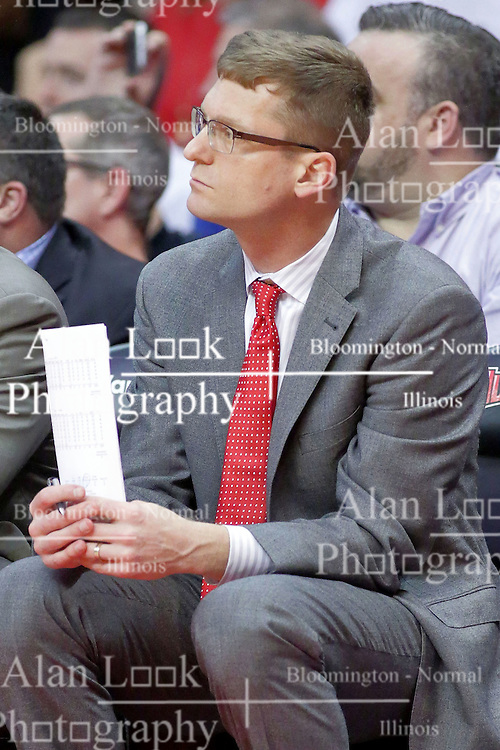 22 February 2017:  Luke Yaklich during a College MVC (Missouri Valley conference) mens basketball game between the Southern Illinois Salukis and Illinois State Redbirds in  Redbird Arena, Normal IL