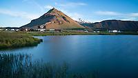Eyri at Arnarstapi, mount Stapi in background. Snæfellsnes Peninsula, West Iceland.