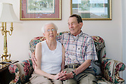 Pat Lambert has been married to Clara for 52 years. Clara has Alzheimer's disease and Alan is part of a support group to cope with his role as caregiver. The two are photographed in their Albany, Georgia home October 10, 2012.