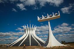 Catedral de Brasília - Catedral Metropolitana Nossa Senhora Aparecida é um projeto de Oscar Niemeyer inaugurado em 1970. FOTO: Jefferson Bernardes/ Agência Preview