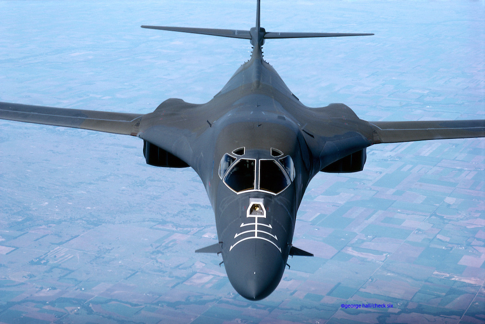 Aerial view of B-1B Bomber