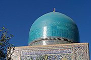 Uzbekistan, Samarqand.<br /> Registan ensemble.<br /> The Mosque of Tilla-Kari Medressa.