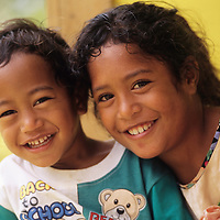 Cook Islands, K?ki '?irani, South Pacific Ocean, Aitutaki, native islanders, portraits