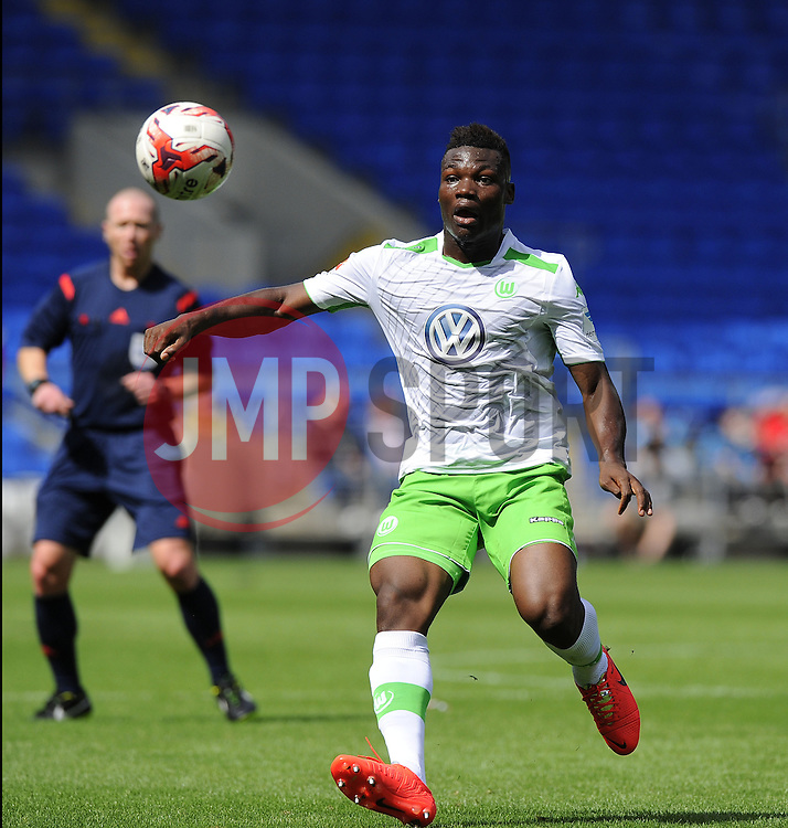 VfL Wolfsburg's Junior Malanda - Photo mandatory by-line: Joe Meredith/JMP - Mobile: 07966 386802 02/08/2014 - SPORT - FOOTBALL - Cardiff - Cardiff City Stadium - Cardiff City v VfL Wolfsburg - Pre-Season Friendly