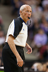 March 14, 2011; Sacramento, CA, USA;  NBA referee Dick Bavetta (27) during the first quarter between the Sacramento Kings and the Golden State Warriors at the Power Balance Pavilion. Sacramento defeated Golden State 129-119.
