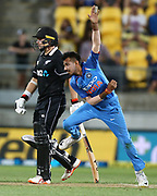 India's Yuzvendra Chahal during the Fifth ODI of the 2019 ANZ International ODI Series. Blackcaps v India at Westpac Stadium, Wellington, Sunday 3rd February 2019. © Copyright Photo: Grant Down / www.photosport.nz