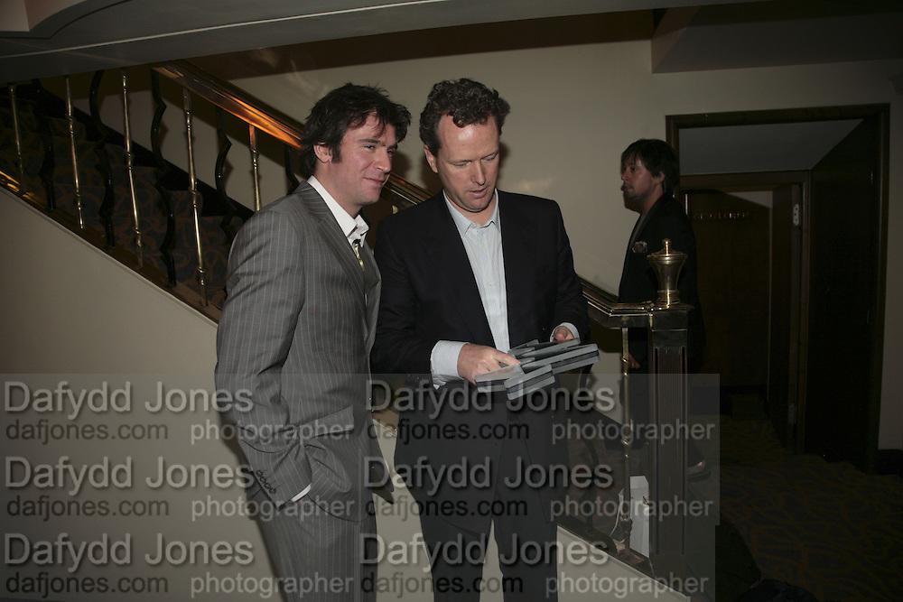 Jack Davenport and Teddy st. Aubyn, The South Bank Show Awards, Savoy Hotel. London. 23 January 2007.  -DO NOT ARCHIVE-© Copyright Photograph by Dafydd Jones. 248 Clapham Rd. London SW9 0PZ. Tel 0207 820 0771. www.dafjones.com.