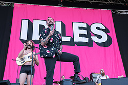 © Licensed to London News Pictures. 31/08/2019. Bristol, UK. Idles play the main stage at the Downs Festival. Photo credit: Simon Chapman/LNP.