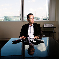 Portrait of Laurent Storch, new TF1's program director in office of TF1 tower, Paris / Boulogne-Billancourt (assignment for Le Monde)..september 10, 2008..photo: Antoine Doyen