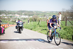 Aude Biannic (FRA) of Movistar Women's Team reaches the top of the Keutenberg during the Amstel Gold Race - Ladies Edition - a 126.8 km road race, between Maastricht and Valkenburg on April 21, 2019, in Limburg, Netherlands. (Photo by Balint Hamvas/Velofocus.com)