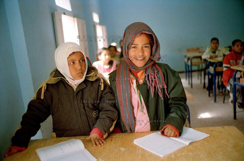 Febbraio 2012.The Saharawi refugee camp Smara.La scuola Bolivar Simon