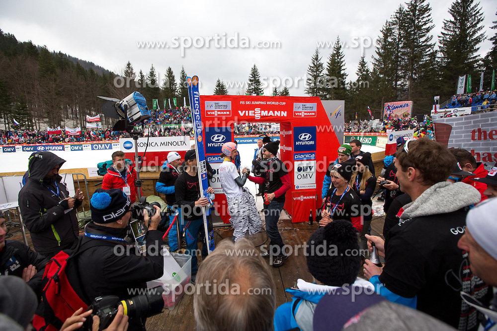 Martin Koch of Austria retirement during Large Hill Team Competition at 3rd day of FIS Ski Jumping World Cup Finals Planica 2014, on March 22, 2014 in Planica, Slovenia. Photo by Matic Klansek Velej/ Sportida
