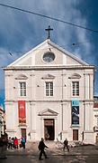 Exterior of the Church of Sao Roque, Bairro Alto, Lisbon, Portugal