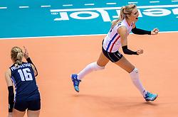 17-05-2016 JAP: OKT Thailand - Nederland, Tokio<br /> Nederland verslaat Thailand met klinkende cijfers 3-0 en is weer op koers voor Rio / Laura Dijkema #14
