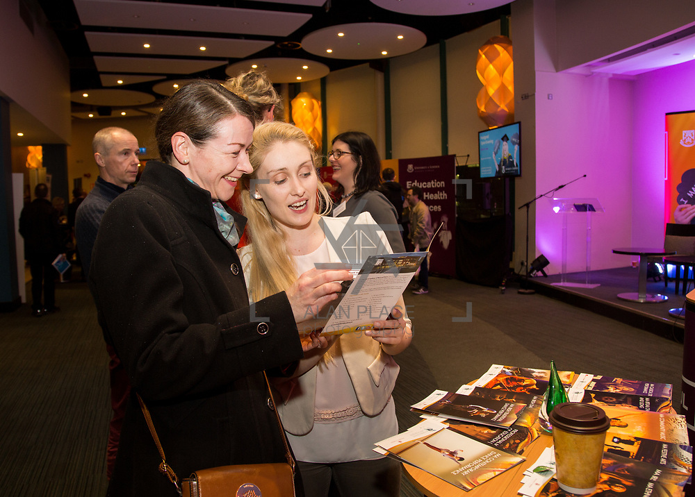 09.03.2017<br /> Pictured at the University of Limerick Post Grad Open Evening in the North Campus Pavilion were, Sheila Lalor, Portlaois and Jennifer de Brun, Irish World Academy. Picture: Alan Place