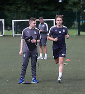Dundee manager Neil McCann keeps an eye on his charges during pre-season testing at University Grounds, Riverside, Dundee, Photo: David Young<br /> <br />  - &copy; David Young - www.davidyoungphoto.co.uk - email: davidyoungphoto@gmail.com