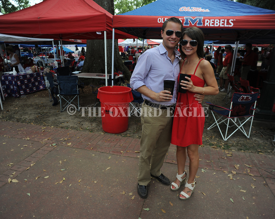 Fans tailgate before the Ole Miss vs. BYU game in Oxford, Miss. on Saturday, September 3, 2011.